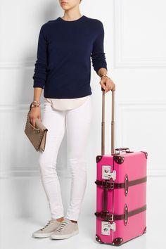 A huge case of Pink!! Globe Trotter luggage @net-a-porter.com