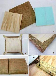 Diy Tufted Headboard, Bed Headboard Design, Bedroom Bed Design, Headboards For Beds, Home Decor Bedroom, Diy Interior, Home Interior Design, Recycled Furniture, Diy Furniture