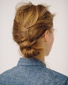 Pretty pinned back hair