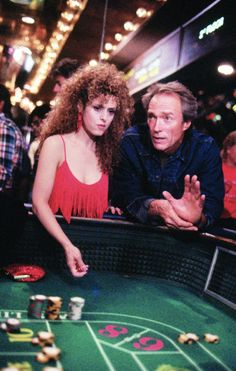 Still of Clint Eastwood and Bernadette Peters in Pink Cadillac