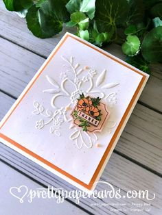 Stampin' Up! Darling Label Card - Pretty Paper Cards - stampinup