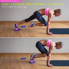 8 Exercises to Target Your Lower Abs- the One-Legged Mountain Climber move