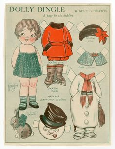 76.2954: Dolly Dingle | paper doll | Paper Dolls | Dolls | National Museum of Play Online Collections | The Strong