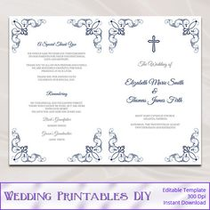 Wedding booklet templates demirediffusion purple wedding program booklet template diy elegant wisteria maxwellsz