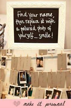 "cute idea for a ""guestbook""? Could be cool to have people do this between the ceremony and the reception..."
