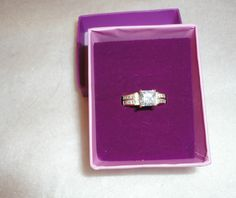 Palm Beach - Princess-Cut DiamonUltra Bridal Engagement Ring! New In Box! Offered by #TRENDYSTYLES5 on Bonanza