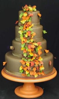 Fall Theme fondant covered