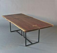 live edge tables | Handmade Walnut Slab Live Edge Dining Table. by Bernwood Custom Design ...