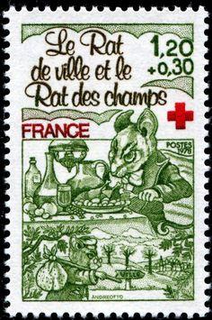 Fables de Jean de Lafontaine - timbre France
