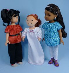 Peasant Blouse, Dress, Nightgown pattern to fit 13-14 inch dolls. beach baby doll patterns