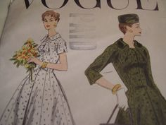 Vintage 1950's Vogue 8933 Coat Dress Sewing by TheLastPixie