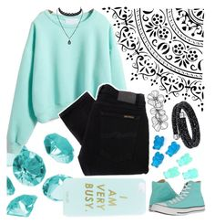 """""""Falling In Love With Teal"""" by jeanie-boyd ❤ liked on Polyvore featuring Blue La Rue, Miss Selfridge, WithChic, Nudie Jeans Co. and Converse"""