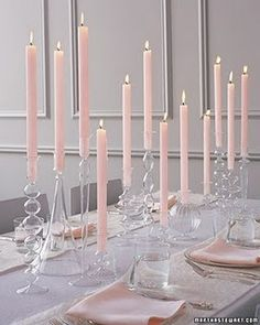 Back to the basics. Dollar store candle sticks and holders. And flowers scattered on the table. #HazelEvents #OnABudget