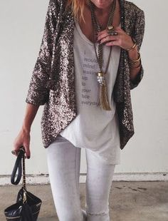 #fall #fashion / sequin blazer