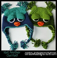 Not ANOTHER Owl Hat! Free Crochet Pattern from Oombawka Design
