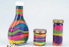 Cómo hacer sales de colores