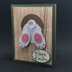 Looks like someone is being a little sneaky! Delight the recipient of this card with a view of a bunny's hind end and then when...