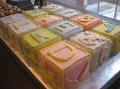 #cake #shower #blocks #baby