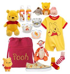 """""""lil pooh bear"""" by little-wumpa ❤ liked on Polyvore featuring Vans and Disney"""