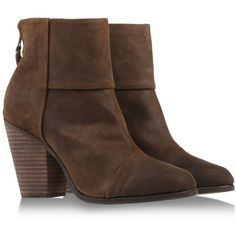 RAG BONE Ankle boots ($495) ❤ liked on Polyvore featuring shoes, boots, ankle booties, heels, botas, rag bone boots, heeled bootie, ankle boots, short heel boots and bootie boots