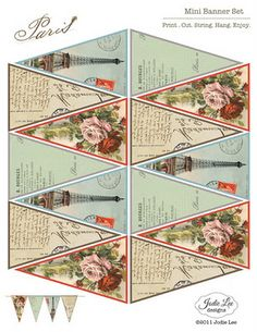 TheGypsyChick.BlogSpot.com: Paris Bunting Freebie to Download!