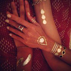 Flashtatt with my & Hoorsenbuhs jewels! @ www.acompton.com Spiritual Jewelry, Bangles, Bracelets, Fine Jewelry, Jewels, Chic, Fashion, Bangle Bracelets, Bangle Bracelets