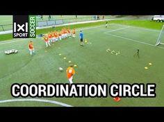 ⚽ Technical Circle - Creative Football/ Soccer Activity for Kids - Soccer Drills Soccer Dribbling Drills, Soccer Passing Drills, Football Training Drills, Soccer Drills For Kids, Soccer Practice, Soccer Skills, Kids Soccer, Play Soccer, Soccer Stuff