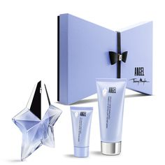 Angel 'Seductive Leather' Gift Set - Experience the intoxicating fragrance of Angel Eau de Parfum, Thierry Mugler's original iconic fragrance.   Paying tribute to his Haute Couture creations, this gift set is inspired by one of the designer's favourite materials, leather.  This gift set includes:  - Angel Eau de Parfum 25ml, Refillable  - Angel Perfuming Body Lotion 100ml (free gift)  - Angel Perfuming Shower Gel 30ml (free gift)  Fragrance notes: Oriental, Bergemot, Dewberry, Honey…