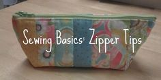 Sewing a zipper tutorial