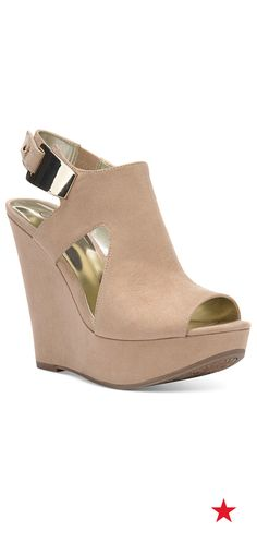 Step up your shoe game with one of our top-pinned picks: Carlos by Carlos Santana Malor platform wedge sandals
