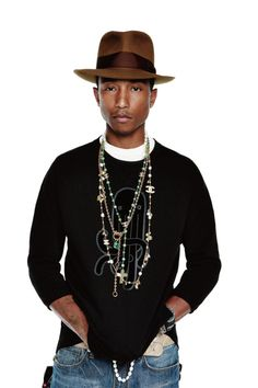 Pharrell in fedora Fashion Mode, Look Fashion, Urban Fashion, Mens Fashion, Stylish Men, Men Casual, Casual Outfits, Mode Man, Pharrell Williams