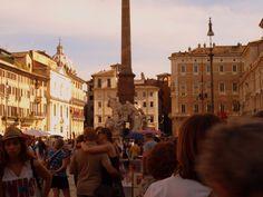 Loving Crowd in Piazza Navona