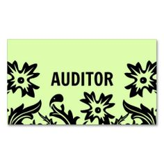 Auditor Flower Business Card