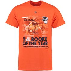 832d9f83b Men s Houston Astros Carlos Correa Majestic Orange 2015 American League  Rookie of the Year T-Shirt
