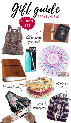 Travel girl gift guide! Here are 11 gift ideas perfect for travel girls!
