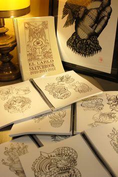 Sketchbook by El Carlo. Buy it here: http://lacobranegrashop.com/product/sketchbook-by-el-carlo