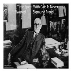 #Freud #Love #Cats #Poster #humor #psychiatry #Sale 20%off Code FEBRUARYSALE Ends 12amPT @zazzle @zazzle #gift #decor #homedecor @pinterest