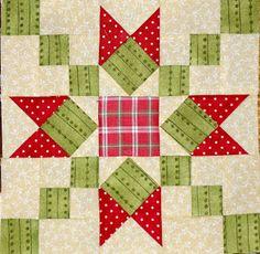 Christmas Quilt Along - Post Star Quilt Blocks, Star Quilt Patterns, Quilting Projects, Quilting Designs, Quilting Tips, Bird Quilt, Small Quilts, Quilt Tutorials, Square Quilt