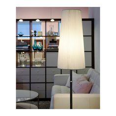 """IKEA 365+ LUNTA Floor lamp, chrome plated - chrome plated. (Light bulbs: """"opal"""" vs """"globe clear"""" *)"""