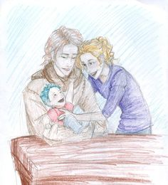 Lupin, Tonks, and Teddy