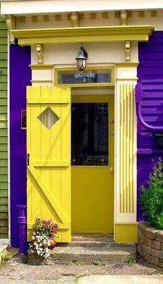 doors.quenalbertini: Yellow Door in St. John's, Newfoundland, Canada | Douglas Pike on Fine Art America
