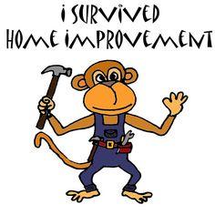 Cool Funny Monkey Handyman Cartoon