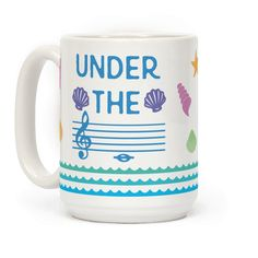 Under The C - Show off your love of music with this musical pun, mermaid loving, beach inspired, under the sea coffee mug! Let the world know that you are a beautiful, musical mermaid and you live under the C (note)!