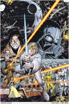 Classic Star Wars comic book cover by Art Adams