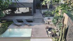 Texas Landscaping, Backyard Pool Landscaping, Small Backyard Pools, Swimming Pools Backyard, Outdoor Pool, Backyard Ideas, Patio, Mini Pool, Online Landscape Design