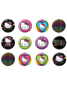 Neon Hello Kitty Buttons 12ct - Party City Canada Thing 1, Hello Kitty  Birthday, 9c1efafa5d