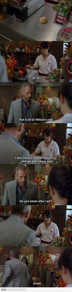 Dr. House is someone I'd like to meet