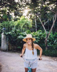 Banana pancakes, bike rides & braids + get the details on this @asos romper on galmeetsglam.com today (link in profile) #dominicanrepublic #ontheblog ... - Julia Engel (Gal Meets Glam) (@juliahengel)