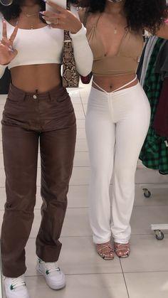 Teen Fashion Outfits, Retro Outfits, Mode Outfits, Girl Outfits, Twin Outfits, Fashion Women, Baddie Outfits Casual, Cute Swag Outfits, Trendy Outfits