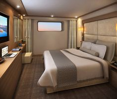 hummmm, doesn't look so bad!  Standard stateroom on Viking River Cruise ship. 150 sq ft